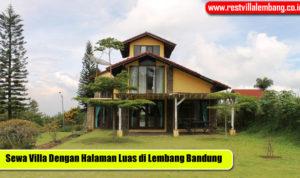 Villa Dengan Halaman Luas di Bandung