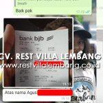 Bukti Transfer Villa Murah Etnik Istana Bunga Lembang